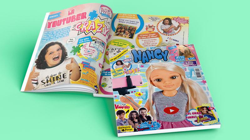 Lady Pecas en la revista Nancy