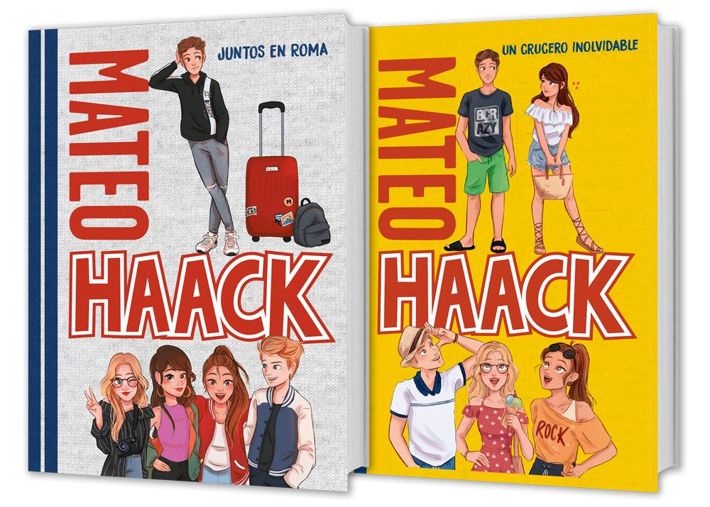Portadas de los libros de Mateo Haack