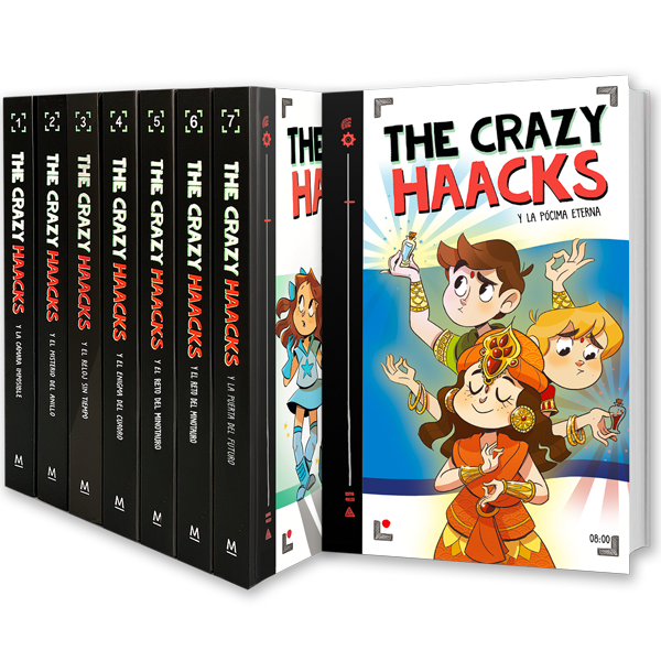 Portadas de la colección The Crazy Haacks