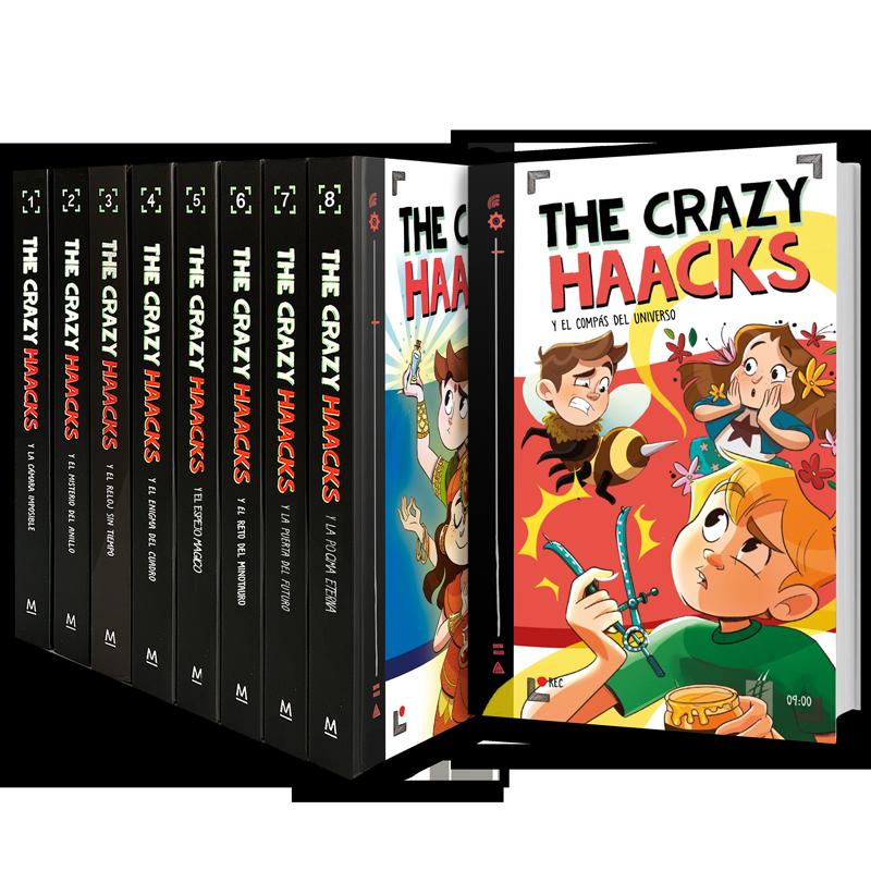 Portadas de la colección The Crazy Haacks